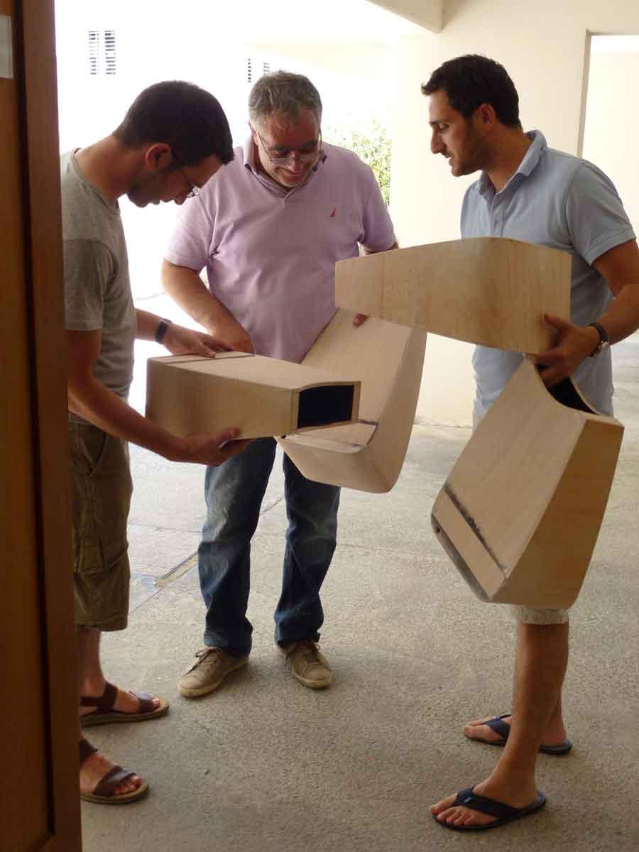 Διαδικασία κατασκευής των κουτιών θέασης, © ΝΟΑ