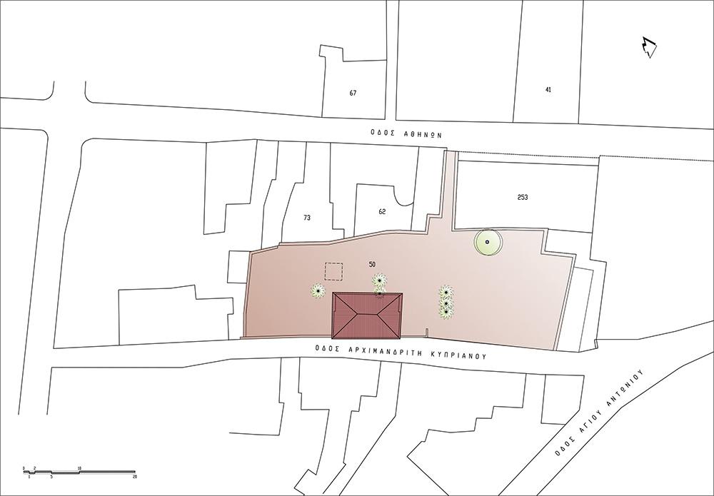 Τοπογραφικό - Προϋπάρχουσα Κατάσταση, © ΑΚ Αρχιτεκτονικό Εργαστήρι