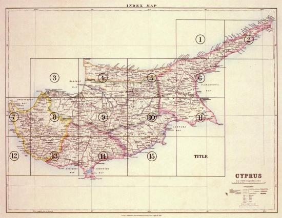 """""""Χάρτης της Κύπρου"""", © Lord Kitchener, 1882"""