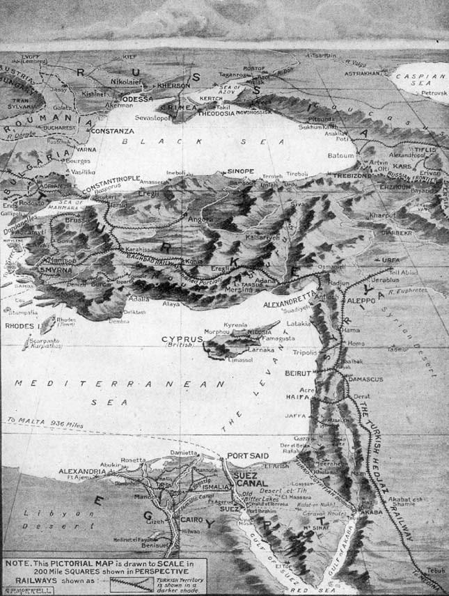 """""""Χάρτης της Κύπρου"""", © Υπουργείο Στρατιωτικών 1914"""