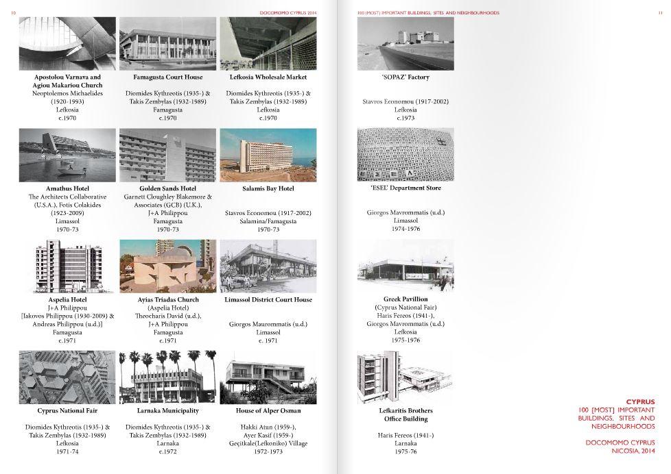 """Cyprus - 100 [Most] Important Buildings, Sites and Neighbourhoods"", ISC Registers, Docomomo International - docomomo Cyprus © http://issuu.com/docomomo.cyprus/docs/_importantbuildingsdocomomocy/ 01.08.2014."
