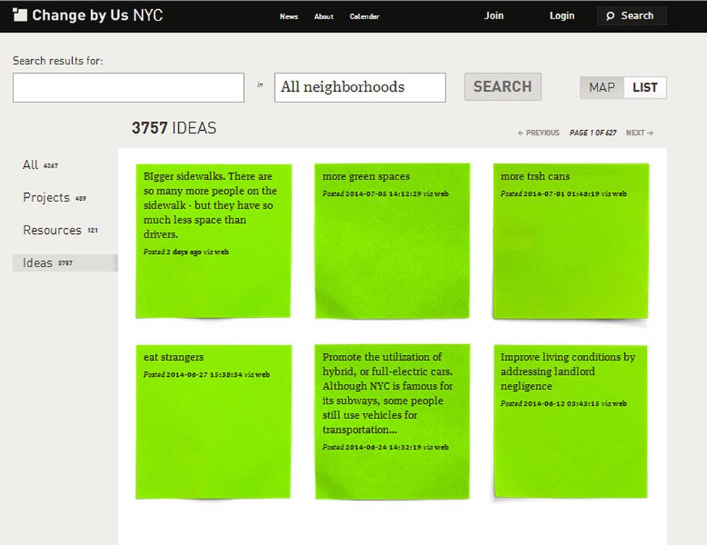 3.757 ιδέες για την πόλη της Νέας Υόρκης © http://nyc.changeby.us/search#ideas