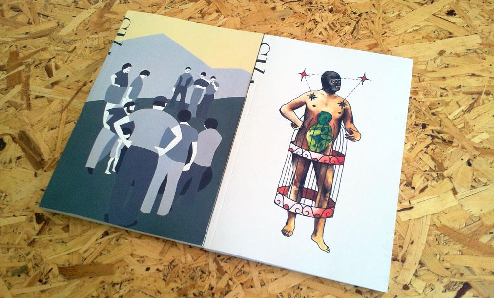 Τα πρώτα δύο τεύχη του περιοδικού «Shht», © Φειδίας Παυλίδης, 2014