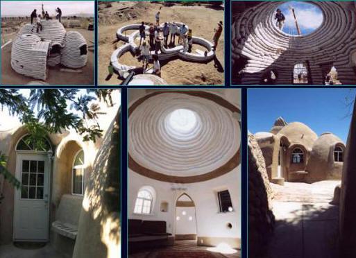 Τρόπος κατασκευής καταλύματος και το αποτέλεσμα    © http://www.eabbassi.ir/images/image_apptech_khalili_superadobeconst.jpg