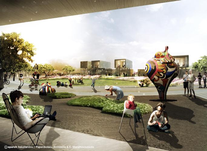 Τόπος Φιλοξενίας και Χαλάρωσης © sparch Sakellaridou/ Papanikolaou Architects, Marathovouniotis