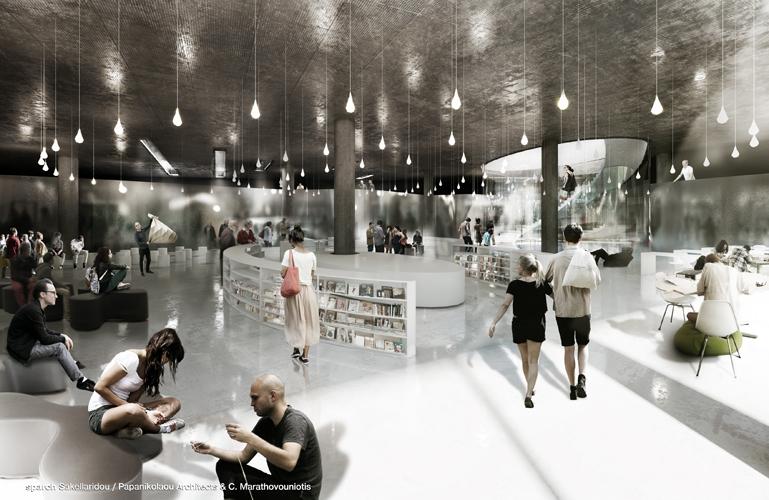Το Κέντρο Πολλαπλών Χρήσεων © sparch Sakellaridou/ Papanikolaou Architects, Marathovouniotis