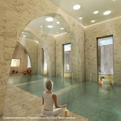 Spa © sparch Sakellaridou/ Papanikolaou Architects, Marathovouniotis