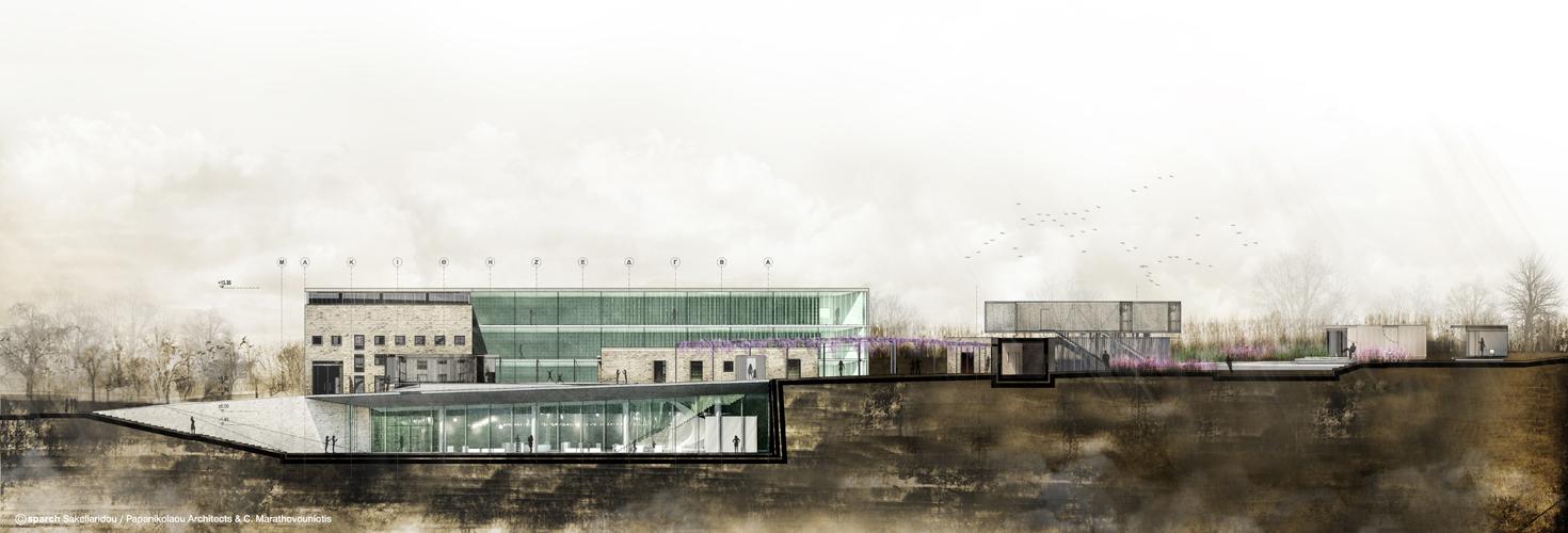 Τομή © sparch Sakellaridou/ Papanikolaou Architects, Marathovouniotis