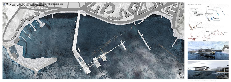K1-Transport & Research Production hub_Κάτοψη χώρου συνάντησης δημοσίων ροών και έρευνας, © Γεώργιος Χαραλάμπους
