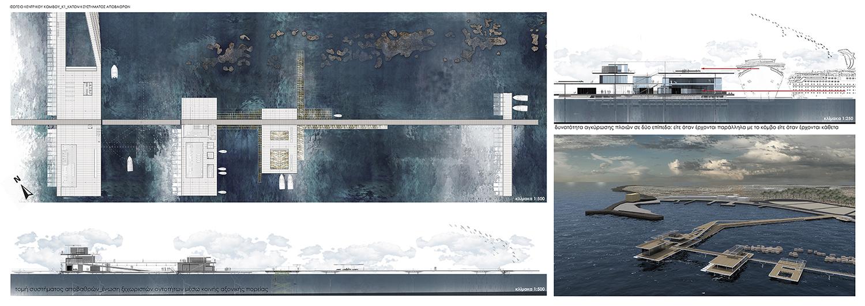 Αρχιτεκτονικά σχέδια-Φωτορεαλιστικά Κ1_Κεντρικός κόμβος λιμανιού, © Γεώργιος Χαραλάμπους