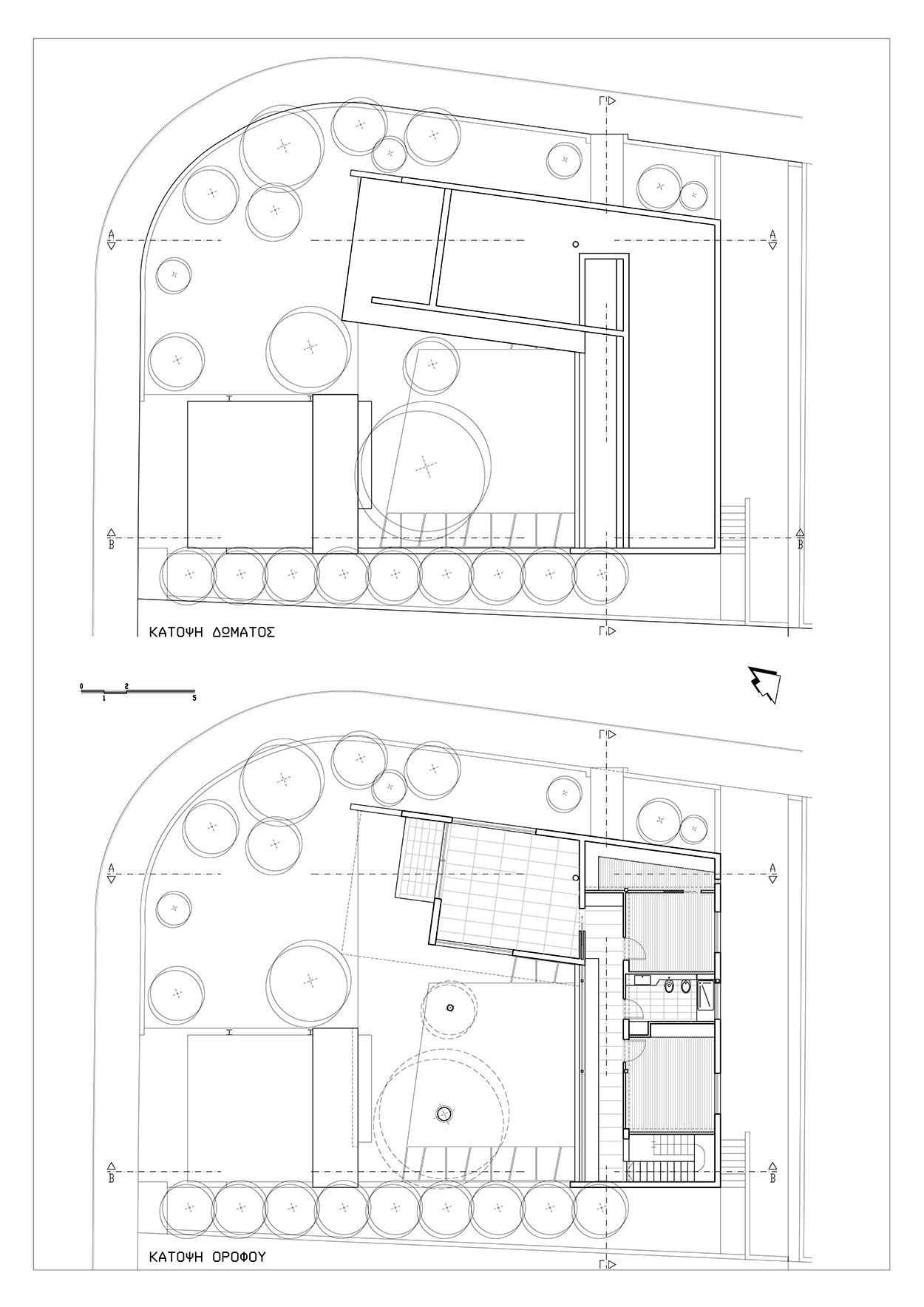 Κατόψεις Ορόφου & Δώματος, ©ΑΚ Αρχιτεκτονικό Εργαστήρι