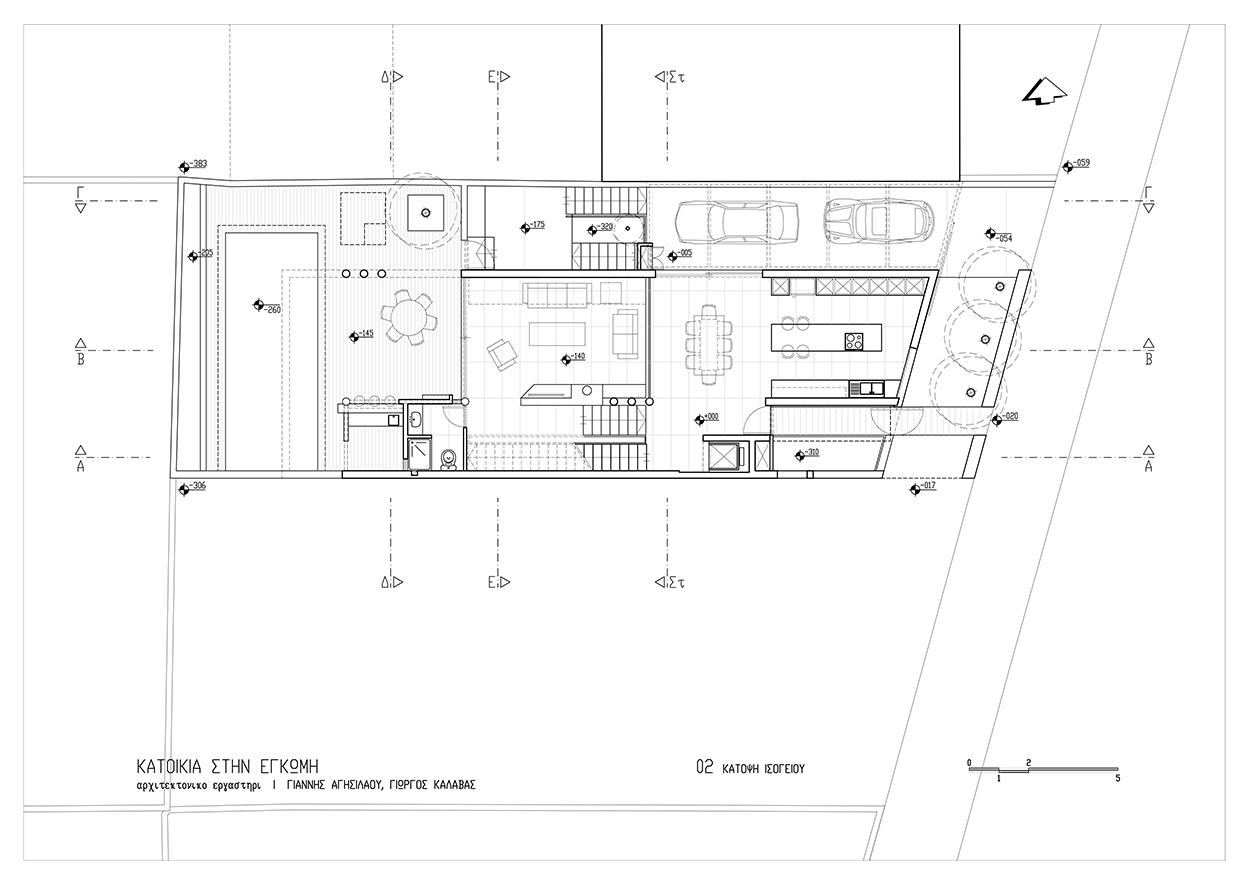 Κάτοψη ισογείου, © ΑΚ Αρχιτεκτονικό Εργαστήρι