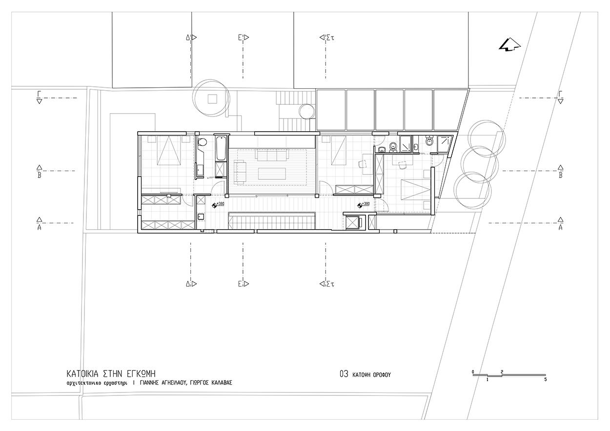 Κάτοψη ορόφου, © ΑΚ Αρχιτεκτονικό Εργαστήρι