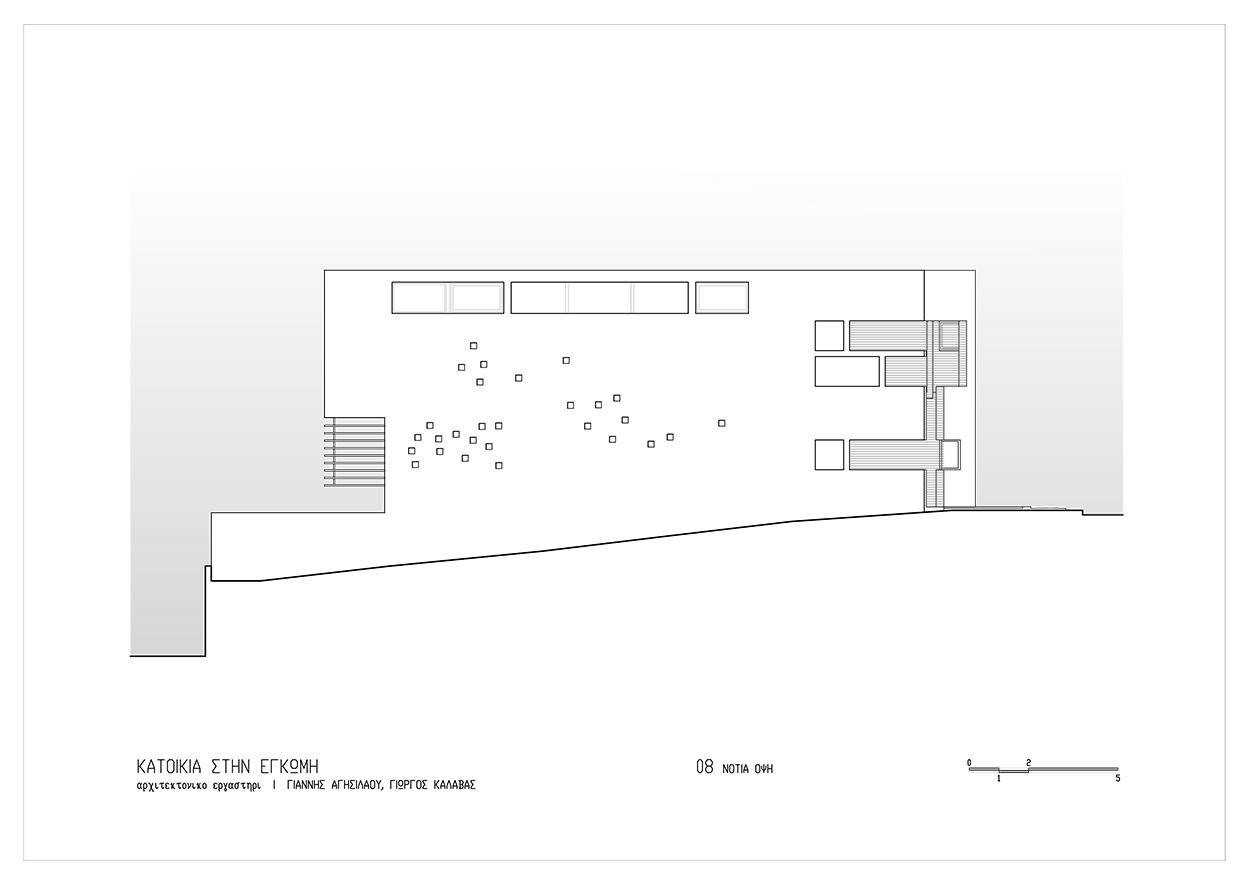 Νότια όψη, © ΑΚ Αρχιτεκτονικό Εργαστήρι