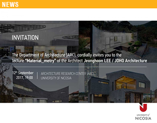 "Lecture: ""Material_metry""- Architect Jeonghoon LEE / JOHO Architecture"